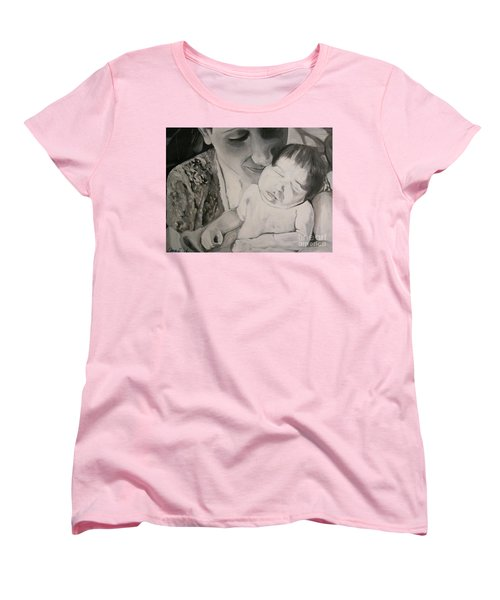 Mother And Child Women's T-Shirt (Standard Cut) by Carrie Maurer