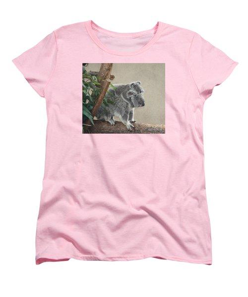 Mother And Child Koalas Women's T-Shirt (Standard Cut) by John Telfer