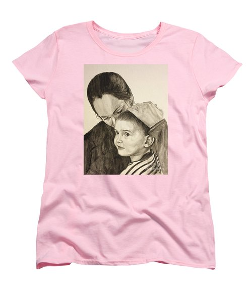 Women's T-Shirt (Standard Cut) featuring the painting Mother's Love by Tamir Barkan