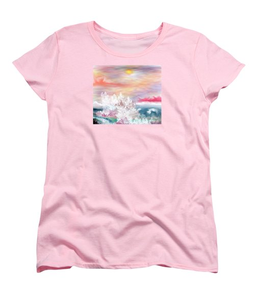 Women's T-Shirt (Standard Cut) featuring the painting My Heaven by Lori  Lovetere
