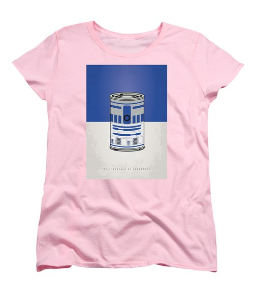 My Star Warhols R2d2 Minimal Can Poster Women's T-Shirt (Standard Cut)