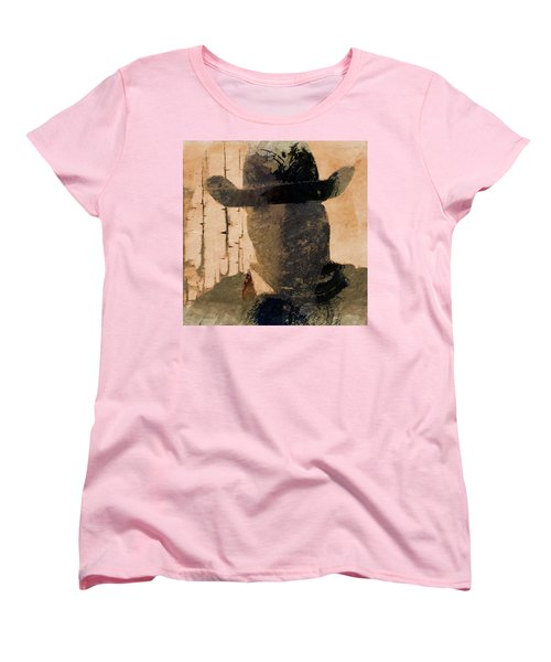 Women's T-Shirt (Standard Cut) featuring the photograph Mysterious Cowboy  by Aaron Berg