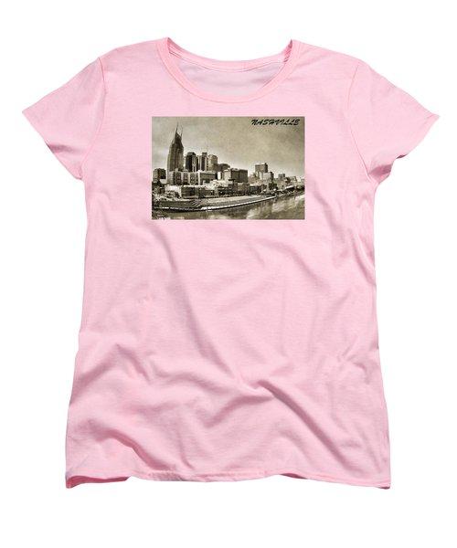 Nashville Tennessee Women's T-Shirt (Standard Cut) by Dan Sproul