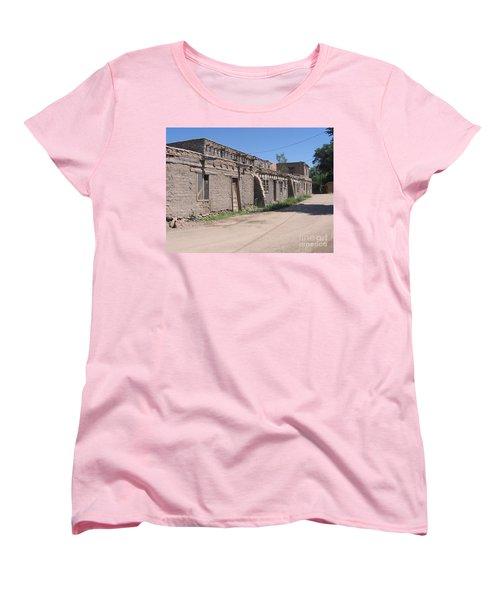 Women's T-Shirt (Standard Cut) featuring the photograph Native American Adobe Pueblo by Dora Sofia Caputo Photographic Art and Design