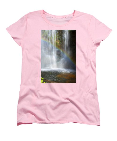 Women's T-Shirt (Standard Cut) featuring the photograph Natures Rainbow Falls by Jerry Cowart