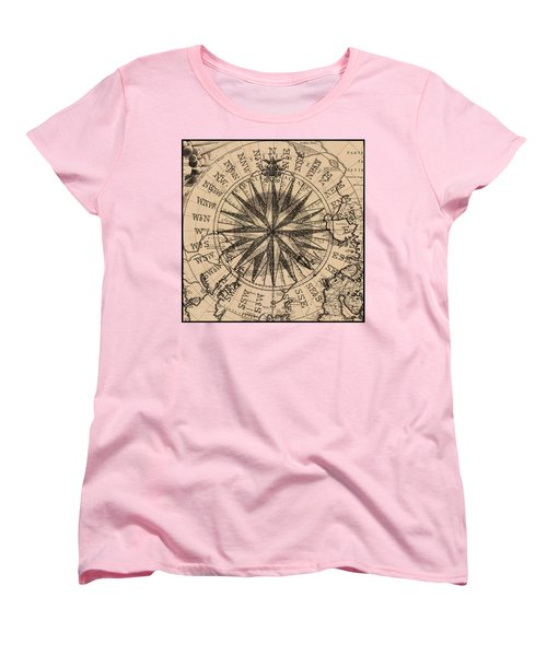Women's T-Shirt (Standard Cut) featuring the painting Nautical II by James Christopher Hill
