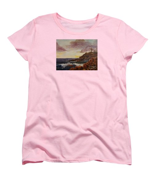 Women's T-Shirt (Standard Cut) featuring the painting New England Storm by Lee Piper