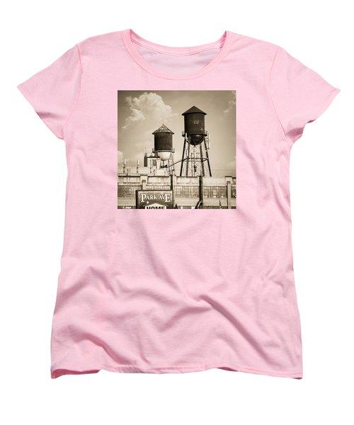 New York Water Tower 8 - Williamsburg Brooklyn Women's T-Shirt (Standard Cut)