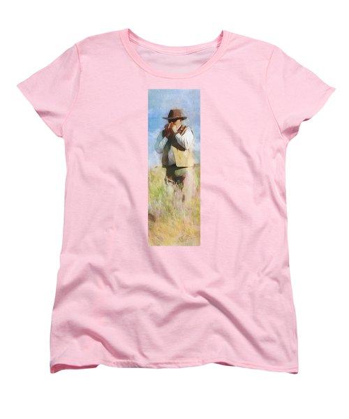 No Useless Cares - Panoramic Women's T-Shirt (Standard Cut) by Greg Collins