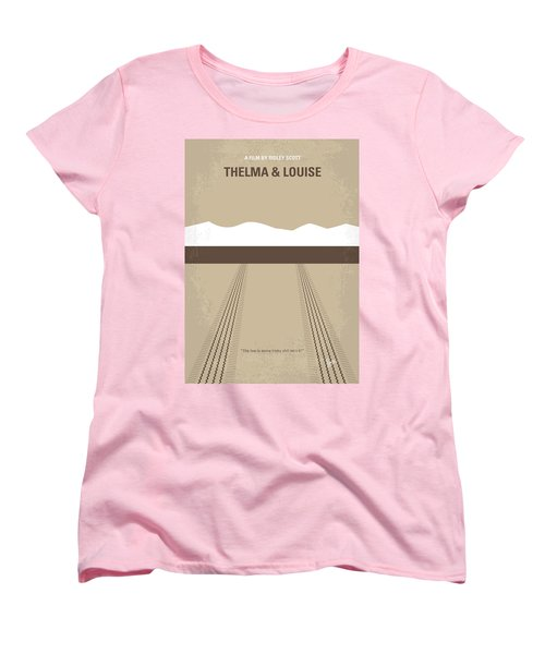 No189 My Thelma And Louise Minimal Movie Poster Women's T-Shirt (Standard Cut)