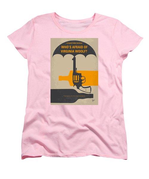 No426 My Whos Afraid Of Virginia Woolf Minimal Movie Poster Women's T-Shirt (Standard Cut) by Chungkong Art