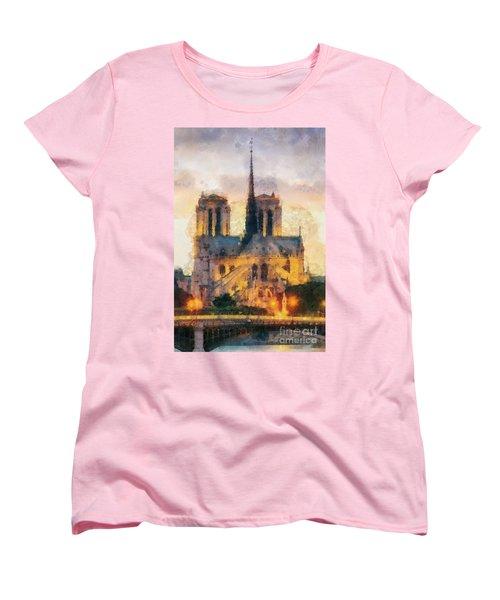 Notre Dame De Paris Women's T-Shirt (Standard Cut) by Mo T