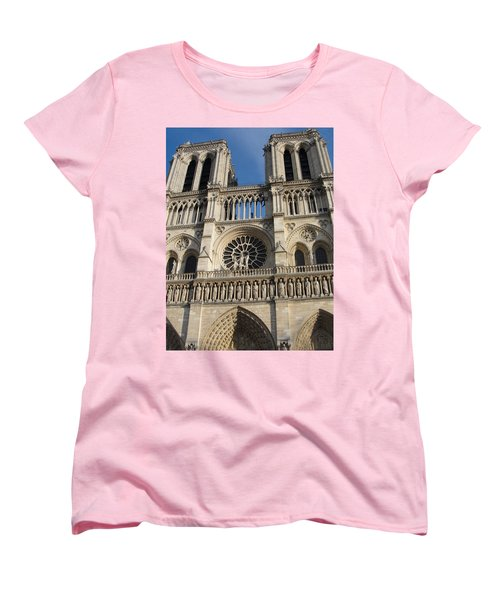 Women's T-Shirt (Standard Cut) featuring the photograph Notre Dame by Tiffany Erdman