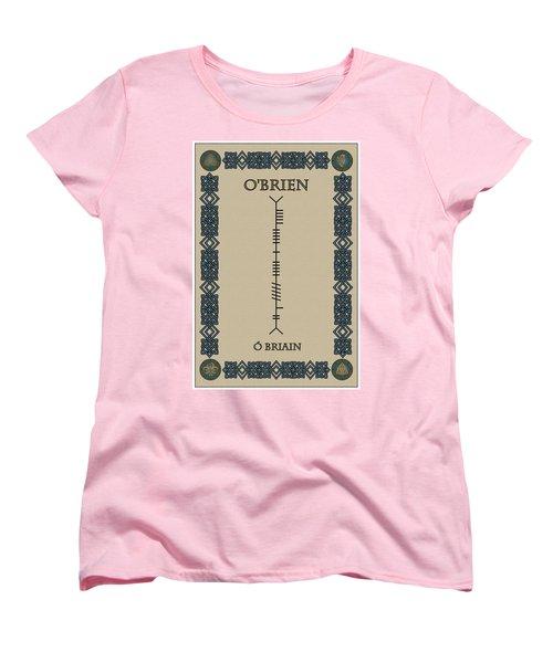Women's T-Shirt (Standard Cut) featuring the digital art O'brien Written In Ogham by Ireland Calling