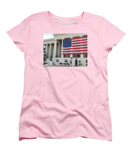 Women's T-Shirt (Standard Cut) featuring the photograph Ol' Glory by Aaron Martens