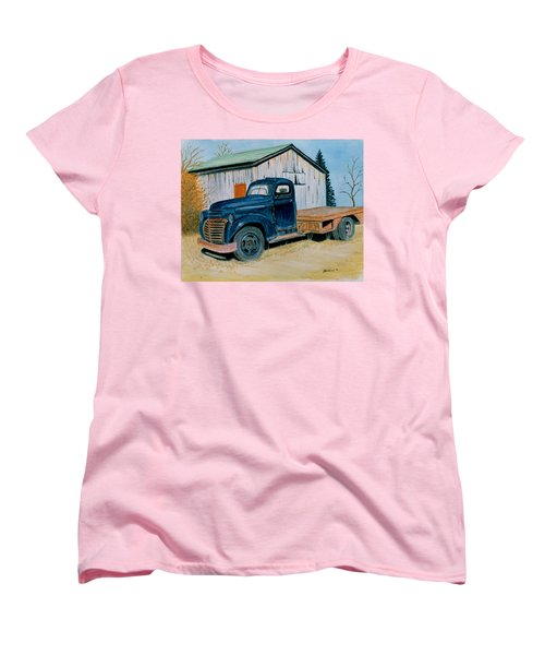 Women's T-Shirt (Standard Cut) featuring the painting Old Blue by Stacy C Bottoms