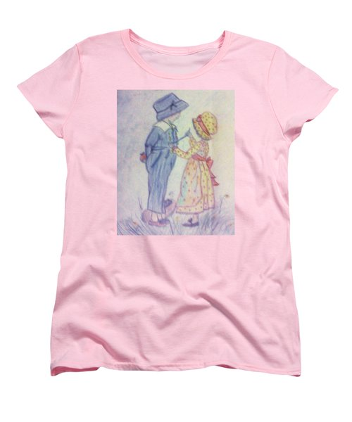 Old Fashioned Romance Women's T-Shirt (Standard Cut) by Christy Saunders Church