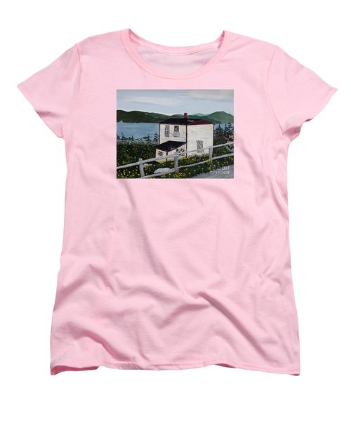 Old House - If Walls Could Talk Women's T-Shirt (Standard Cut) by Barbara Griffin