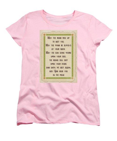 Old Irish Blessing Women's T-Shirt (Standard Cut) by Olga Hamilton
