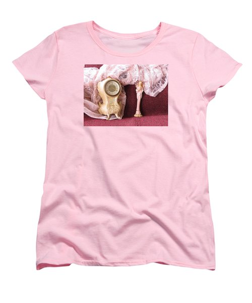 Old Lace And Time Women's T-Shirt (Standard Cut) by Fortunate Findings Shirley Dickerson
