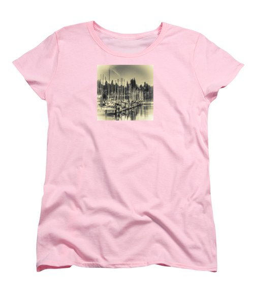 Olympia Marina 1 Women's T-Shirt (Standard Cut) by Jean OKeeffe Macro Abundance Art