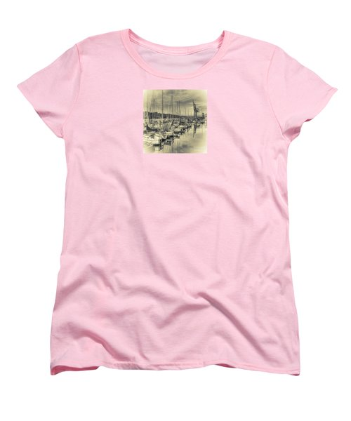 Women's T-Shirt (Standard Cut) featuring the photograph Olympia Marina 3 by Jean OKeeffe Macro Abundance Art