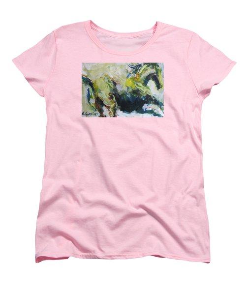 Women's T-Shirt (Standard Cut) featuring the painting On The Run No.3 by Robert Joyner