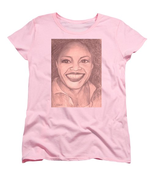 Women's T-Shirt (Standard Cut) featuring the drawing Oprah by Christy Saunders Church