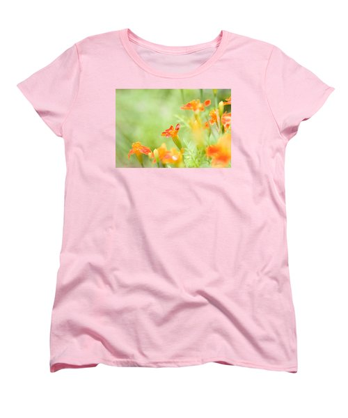 Women's T-Shirt (Standard Cut) featuring the photograph Orange Meadow by Ann Lauwers