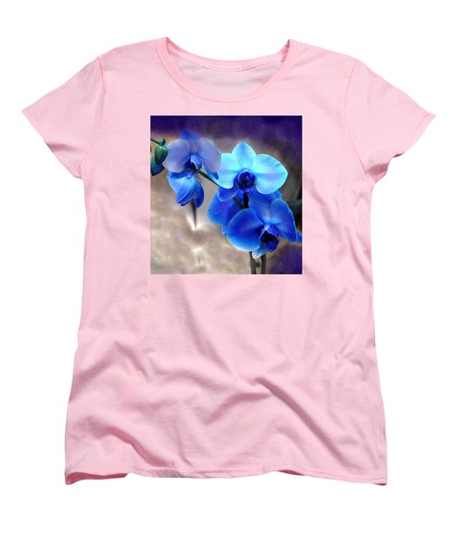 Women's T-Shirt (Standard Cut) featuring the photograph Orchid Art by Wendy McKennon