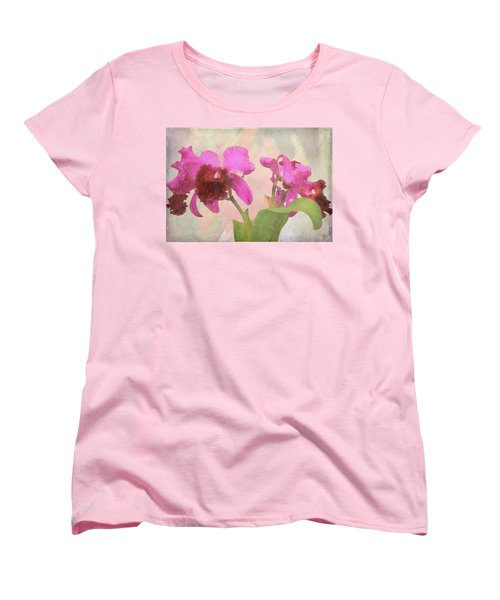 Women's T-Shirt (Standard Cut) featuring the photograph Orchid In Hot Pink by Rosalie Scanlon