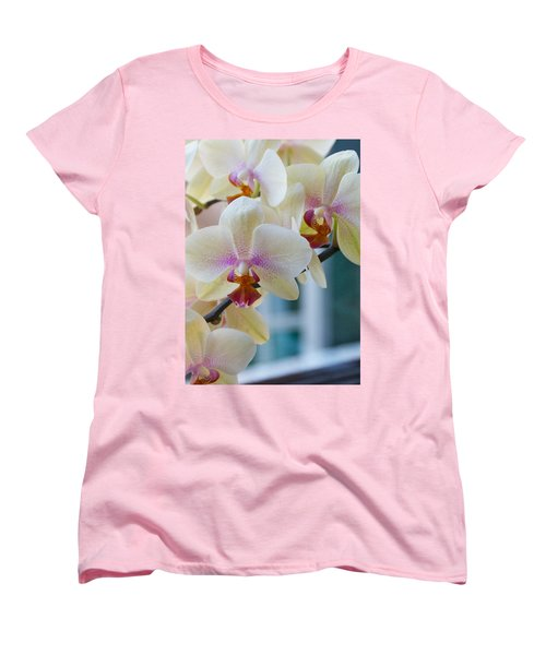 Orchids In The Morning Light Women's T-Shirt (Standard Cut) by Debbie Karnes