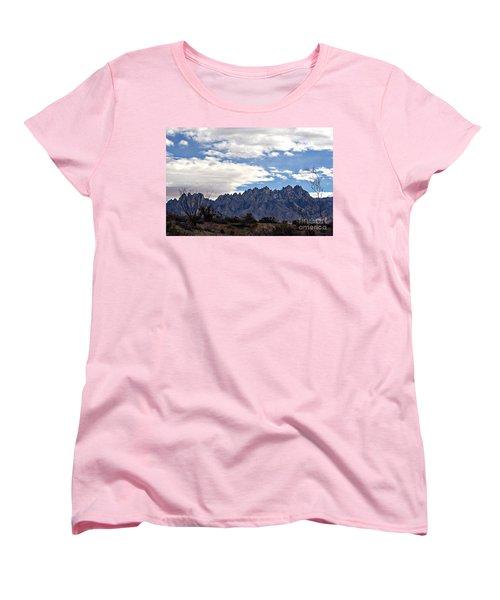 Women's T-Shirt (Standard Cut) featuring the photograph Organ Mountain Landscape by Barbara Chichester