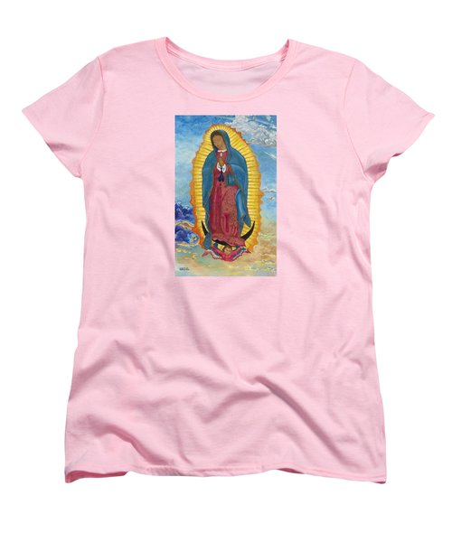 Our Lady Of Guadalupe-new Dawn Women's T-Shirt (Standard Cut) by Mark Robbins