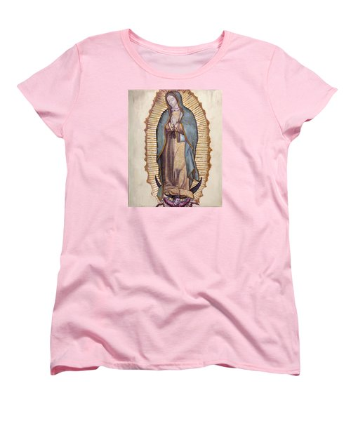 Our Lady Of Guadalupe Women's T-Shirt (Standard Cut) by Richard Barone