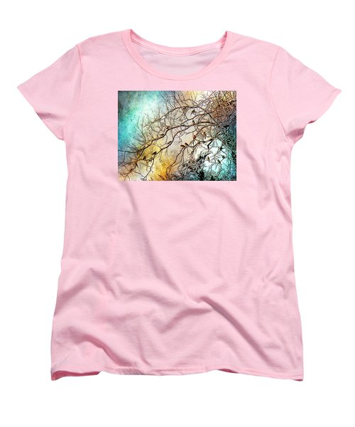 Out On A Limb In Jewel Tones Women's T-Shirt (Standard Cut) by Barbara Chichester