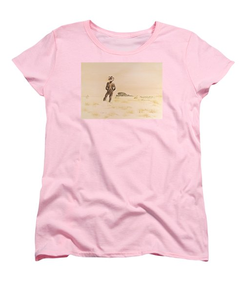 Women's T-Shirt (Standard Cut) featuring the painting Out There by Michele Myers