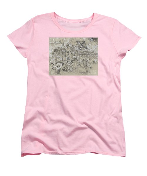 Over The Angle Women's T-Shirt (Standard Cut) by Scott and Dixie Wiley
