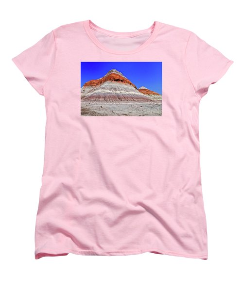 Women's T-Shirt (Standard Cut) featuring the photograph Painted Desert National Park by Bob and Nadine Johnston