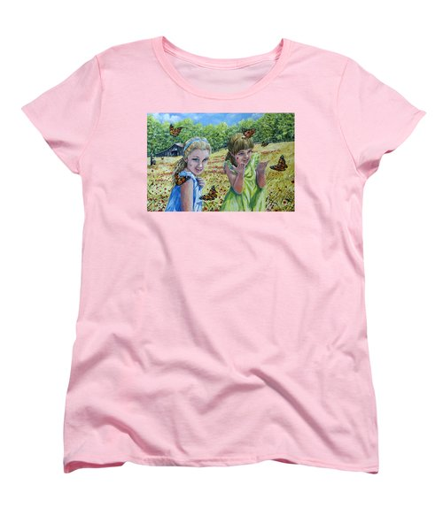 Painted Ladies Women's T-Shirt (Standard Cut) by Gail Butler
