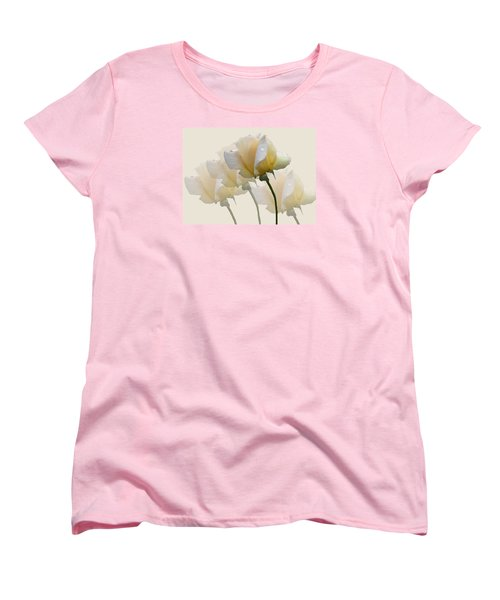Pale Yellow Women's T-Shirt (Standard Cut) by Rosalie Scanlon