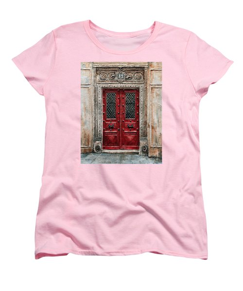 Parisian Door No.82 Women's T-Shirt (Standard Cut) by Joey Agbayani
