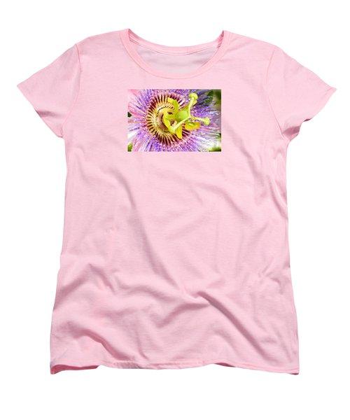 Passiflora The Passion Flower Women's T-Shirt (Standard Cut) by Olga Hamilton