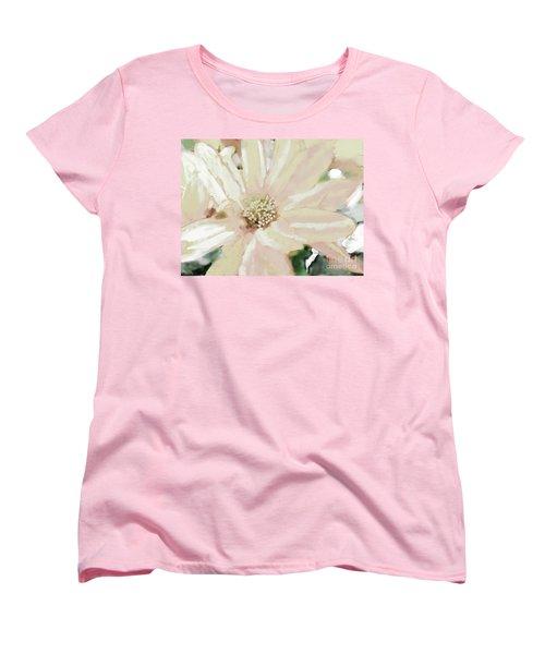 Pastel Daisy Photoart Women's T-Shirt (Standard Cut) by Debbie Portwood