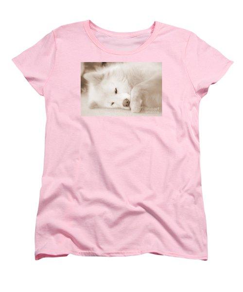 Pawsome Women's T-Shirt (Standard Cut) by Fiona Kennard