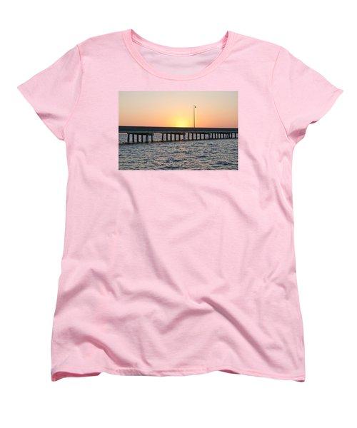 Peace River Bridge - Punta Gorda Florida Women's T-Shirt (Standard Cut) by John Black