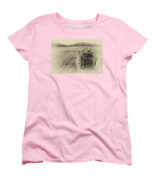 Women's T-Shirt (Standard Cut) featuring the photograph Peach Glen Pennsylvania by Tony Cooper