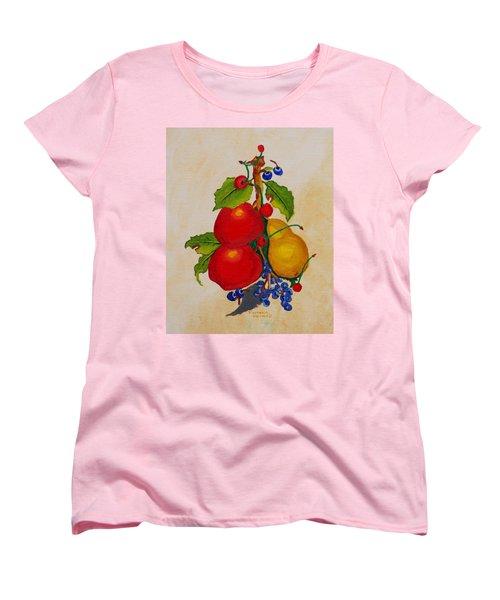 Pear And Apples Women's T-Shirt (Standard Cut) by Johanna Bruwer