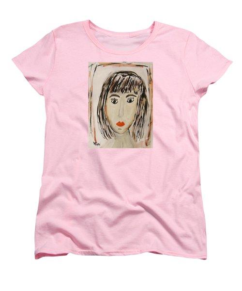Pensive M.  Women's T-Shirt (Standard Cut) by Mary Carol Williams