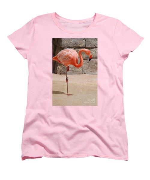 Perfect Pink Flamingo Women's T-Shirt (Standard Cut) by DejaVu Designs
